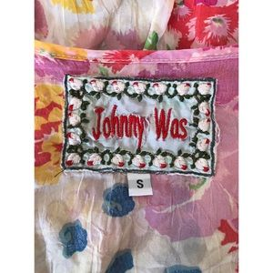 Johnny Was Tops - Johnny Was Silk Floral Top